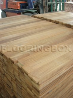 Click to view large - Teak Flooring 11mm x 95mm x 1'- 4' (L.I = 2 inch)